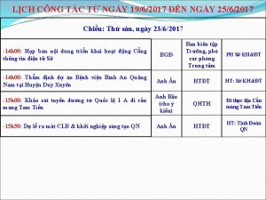 LCH CNG TC T NGY 1962017 N NGY