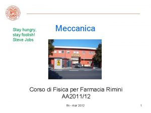Stay hungry stay foolish Steve Jobs Meccanica Corso