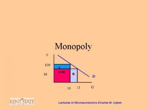 Monopoly Lectures in MicroeconomicsCharles W Upton Monopoly P