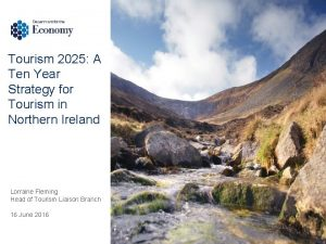Tourism 2025 A Ten Year Strategy for Tourism