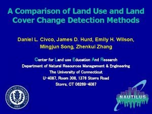 A Comparison of Land Use and Land Cover