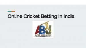 Online Cricket Betting in India Alpha Book Jaipur