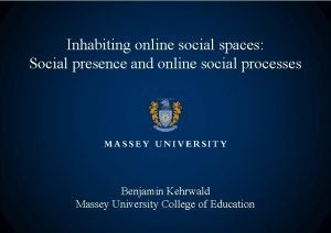 Inhabiting online social spaces Social presence and online