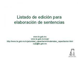 Listado de edicin para elaboracin de sentencias www