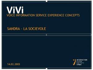SANDRA LA SOCIEVOLE 14 02 2003 SANDRA LA