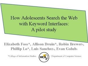 How Adolescents Search the Web with Keyword Interfaces