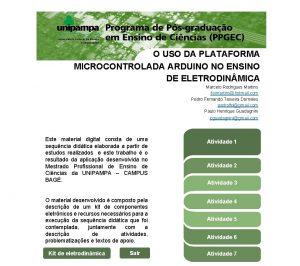 O USO DA PLATAFORMA MICROCONTROLADA ARDUINO NO ENSINO