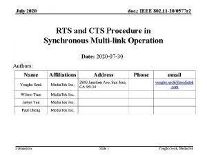 July 2020 doc IEEE 802 11 200577 r
