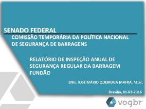 SENADO FEDERAL COMISSO TEMPORRIA DA POLTICA NACIONAL DE