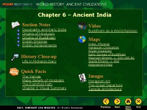 Chapter 6 Ancient India Section Notes Geography and