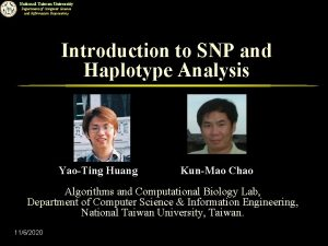 National Taiwan University Department of Computer Science and