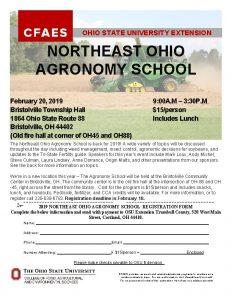 OHIO STATE UNIVERSITY EXTENSION NORTHEAST OHIO AGRONOMY SCHOOL