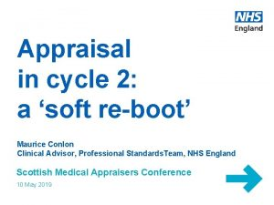 Appraisal in cycle 2 a soft reboot Maurice
