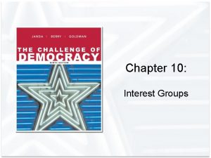 Chapter 10 Interest Groups Interest Groups in America