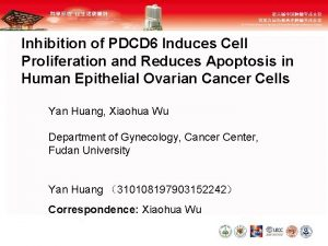 Inhibition of PDCD 6 Induces Cell Proliferation and