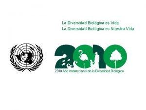 La Diversidad Biolgica es Vida La Diversidad Biolgica