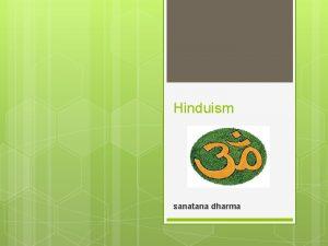 Hinduism sanatana dharma Ursprung hinduism r en religion