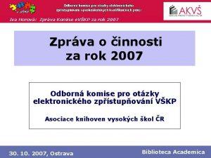 Iva Horov Zprva Komise e VKP za rok