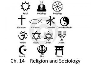 Ch 14 Religion and Sociology The Sociological Meaning
