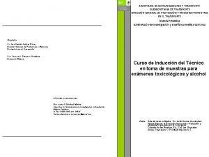 SECRETARIA DE COMUNICACIONES Y TRANSPORTE SUBSECRETARIA DE TRANSPORTE