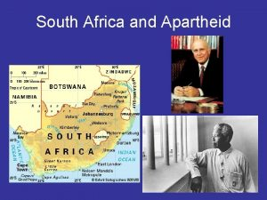 South Africa and Apartheid South Africa More Europeans