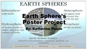 Earth Spheres Poster Project By Katherine Pease What