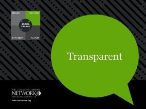 Transparent www commatters org Transparent Openness drives mission