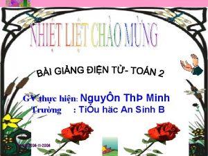 GV thc hin Nguyn Th Minh Trng Tiu