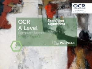 OCR A Level Computer Science H 446 Paper