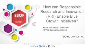 How can Responsible Research and Innovation RRI Enable