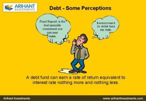 Debt Some Perceptions A debt fund can earn