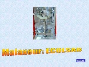 Malaxeur pour classes STI dlectrotechnique Accueil ACCUEIL 1