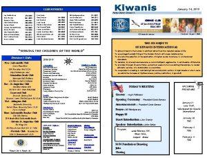 January 14 2010 CLUB MEMBERS Florida District Division