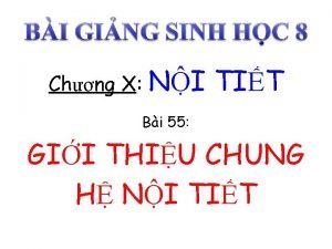 Chng X NI TIT Bi 55 GII THIU
