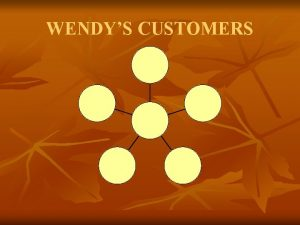 WENDYS CUSTOMERS WENDYS CUSTOMERS Robin Crawfor d Ly