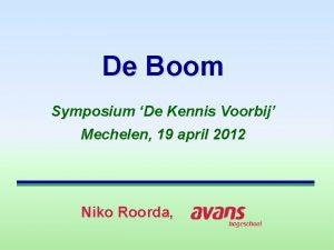 De Boom Symposium De Kennis Voorbij Mechelen 19
