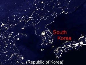 South Korea Republic of Korea Corea del Sur