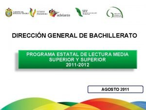 DIRECCIN GENERAL DE BACHILLERATO PROGRAMA ESTATAL DE LECTURA