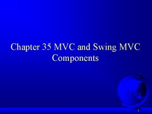 Chapter 35 MVC and Swing MVC Components 1