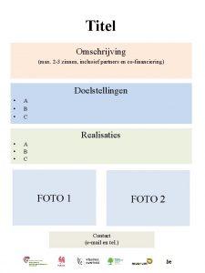 Titel Omschrijving max 2 3 zinnen inclusief partners