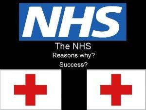 The NHS Reasons why Success NHS NATIONAL HEALTH