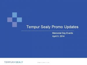 Tempur Sealy Promo Updates Memorial Day Events April