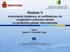 Red Europea de Formacin Judicial REFJ European Judicial