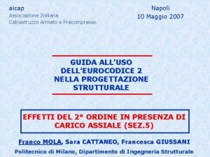 aicap Associazione Italiana Calcestruzzo Armato e Precompresso Napoli