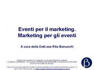 Eventi per il marketing Marketing per gli eventi