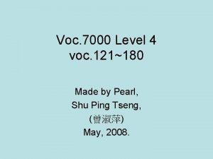 Voc 7000 Level 4 voc 121180 Made by