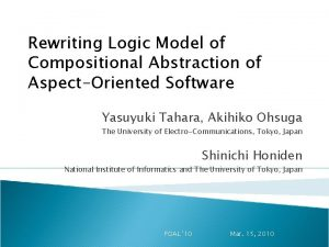 Rewriting Logic Model of Compositional Abstraction of AspectOriented