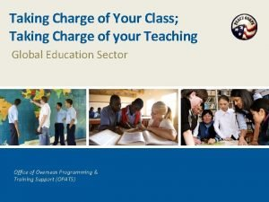 Taking Charge of Your Class Taking Charge of