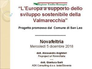 LEuropa a supporto dello sviluppo sostenibile della Valmarecchia