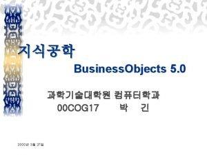 Business Objects 5 0 u Business Objects Inc